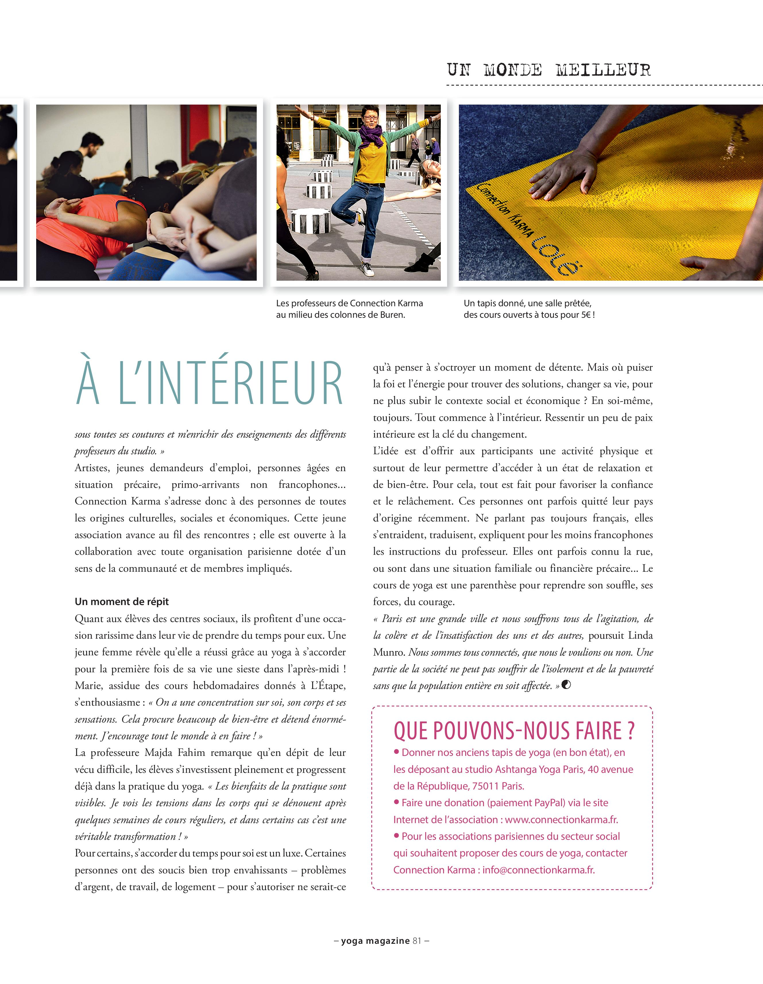 article connection karma yoga magazine page 2